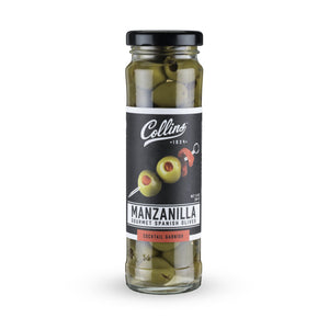 Cocktail Olives-Collins Manzanilla Martini Pimento Olives-Collins-3 oz-Dramson