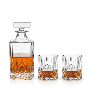 Admiral 3-Piece Liquor Decanter & Tumbler Set-Viski-Dramson