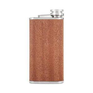 Wood Veneer and Stainless Steel Flask-Foster & Rye-Dramson