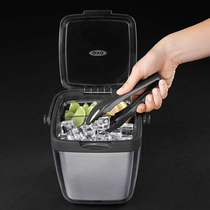 Bar Ice-Ice Buckets-Double Wall Ice Bucket with Tongs and Garnish Tray-OXO-Dramson