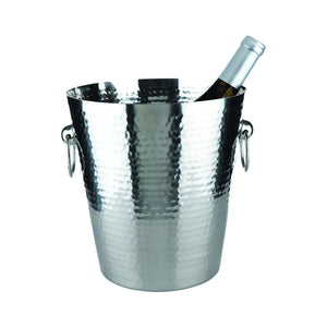 Bar Ice-Ice Buckets-Hammered Metal Ice Bucket-Viski-Dramson