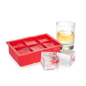 Bar Ice-Ice Cubes-Large Ice Cube Tray-TRUE-Red-Dramson