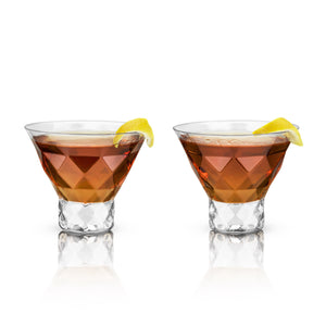 Gem Crystal Martini Glasses (Set of 2)-Viski-Dramson