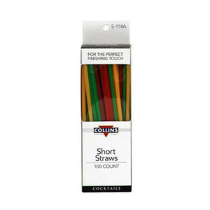 Bar Tools-Straws-Short Plastic Straws (Set of 100)-Collins-Dramson