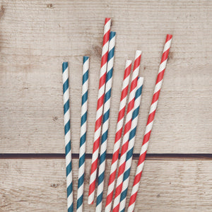 Bar Tools-Straws-Striped Paper Straws (Set of 20)-Twine-Dramson