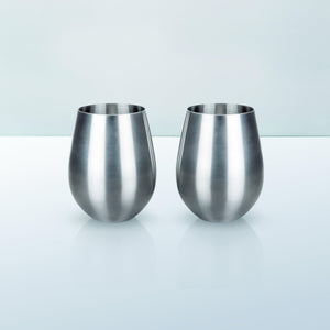 Stainless Steel Stemless Tumblers (Set of 2)-Viski-Dramson