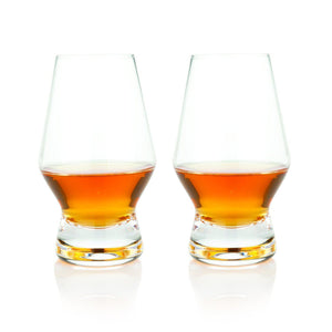 Footed Crystal Scotch Glasses (Set of 2)-Viski-Dramson