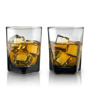 Smoke Double Old Fashioned Crystal Glasses (Set of 2)-Viski-Dramson