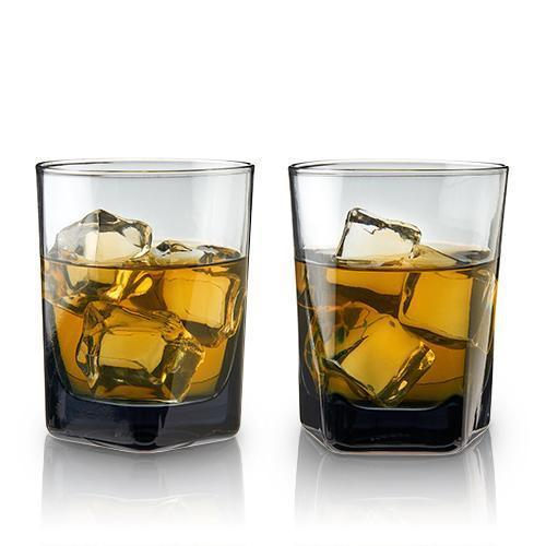 Smoke Double Old Fashioned Crystal Glasses (Set of 2)