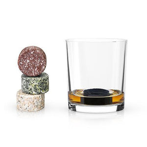 Bar Ice-Whiskey Stones-Multi-Color Granite Stones (Set of 4)-Viski-Dramson