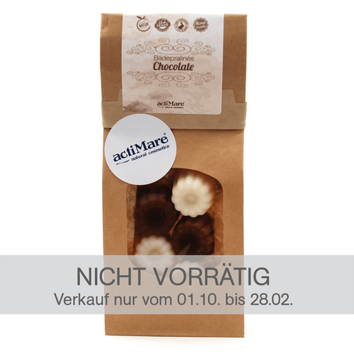 Badepralines Chocolate - 6er Pack | BIO + Vegan | Naturkosmetik - actiMare.de Shop