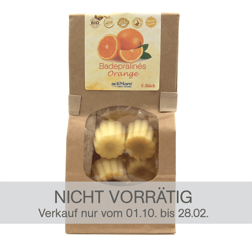 Badepralines Orange - 6er Pack | BIO + Vegan | Naturkosmetik - actiMare.de Shop