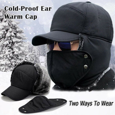 Outdoor Cycling Cold-Proof Ear Warm Cap Thickened Ear Warmer Winter Hat for Men JL