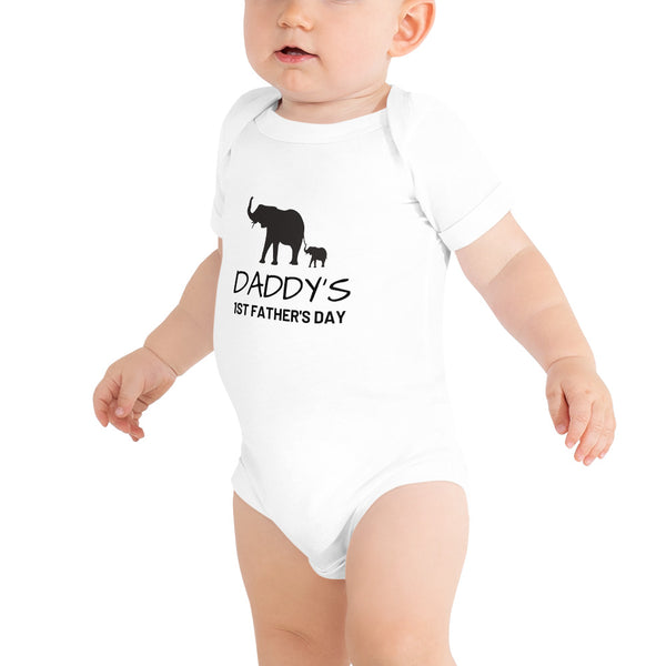 Daddy's 1st Father's day Baby Bodysuit