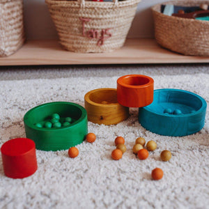 Natural Coloured Nesting and Stacking bowls