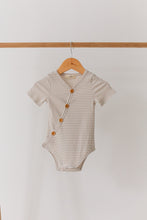 Load image into Gallery viewer, Fawn Stripe Short Sleeve Bodysuit