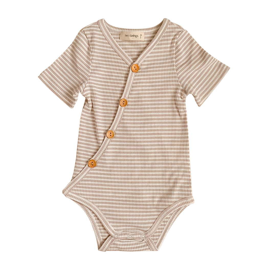 Fawn Stripe Short Sleeve Bodysuit