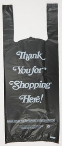 "Strong ""Thank You"" Black T-Shirt Bag - 2 Bottle Liquor Bag (8"" x 4"" x 20"")"