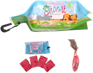 Gluvlt 2 in 1 Dog Waste Bags Pink - 1 Pack of 50