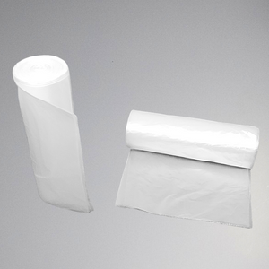 20 to 30 gallons - Clear HDPE natural color coreless trash liners (25 bags/roll x 10 rolls/cs)