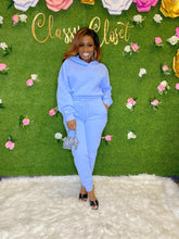 Load image into Gallery viewer, Baby Blue Hoodie Set