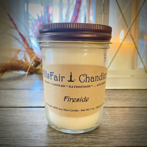 Fireside 7 oz 100% Soy Wax Candle