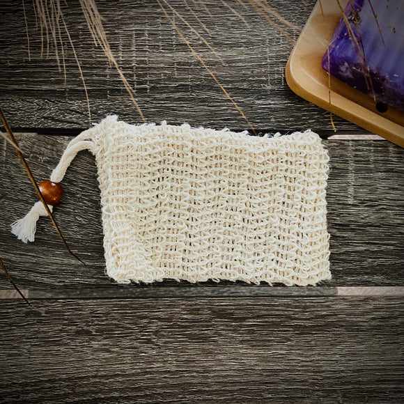 Small Sisal Soap Saver Pouch