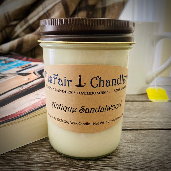 Antique Sandalwood 7 oz 100% Soy Wax Candle