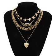 Love Locket Layer Necklace