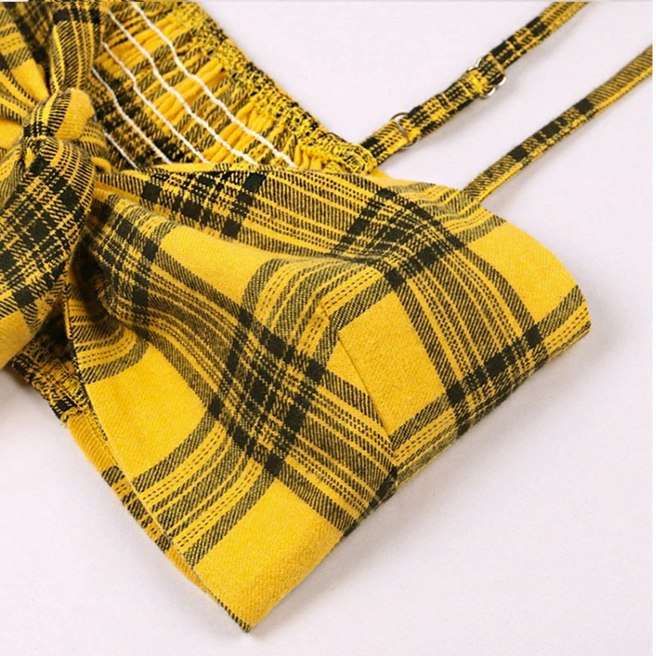 Plaid Yellow Two Piece