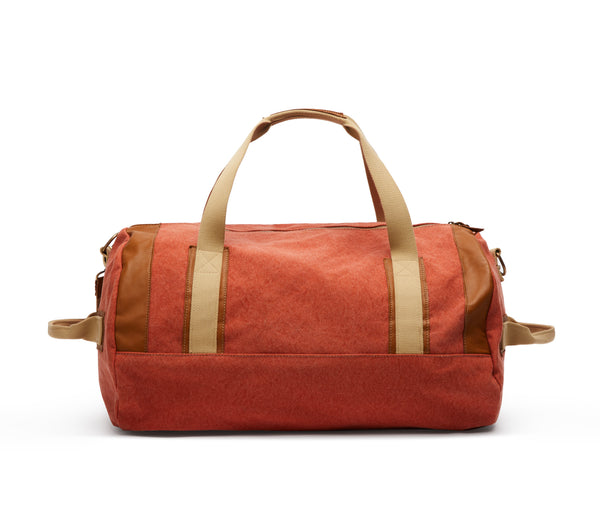 Duffle Bag Canvas Washed Orange