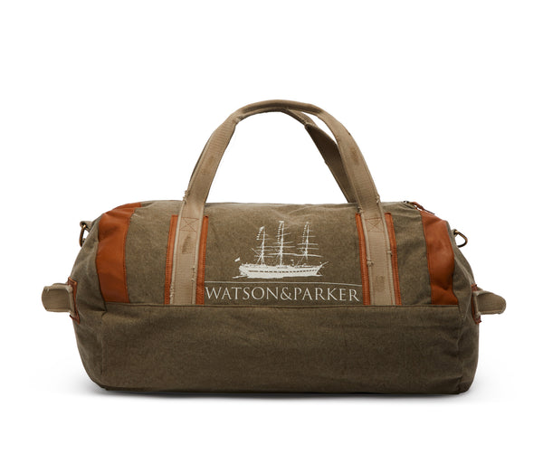 Duffle Bag Canvas Washed Military