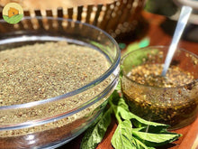 Load image into Gallery viewer, The famous lebanese zaatar: mix of thyme, sumac and semsame with olive oil..