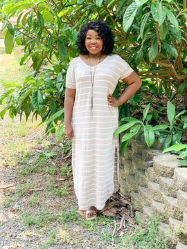 All about stripes maxi dress RD2061