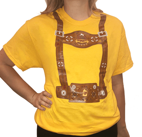 Gold Lederhosen Shirt