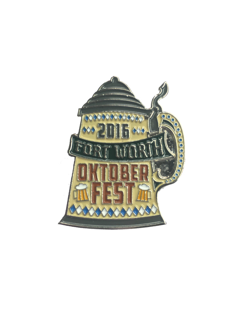 Oktoberfest Fort Worth 2016 Pin