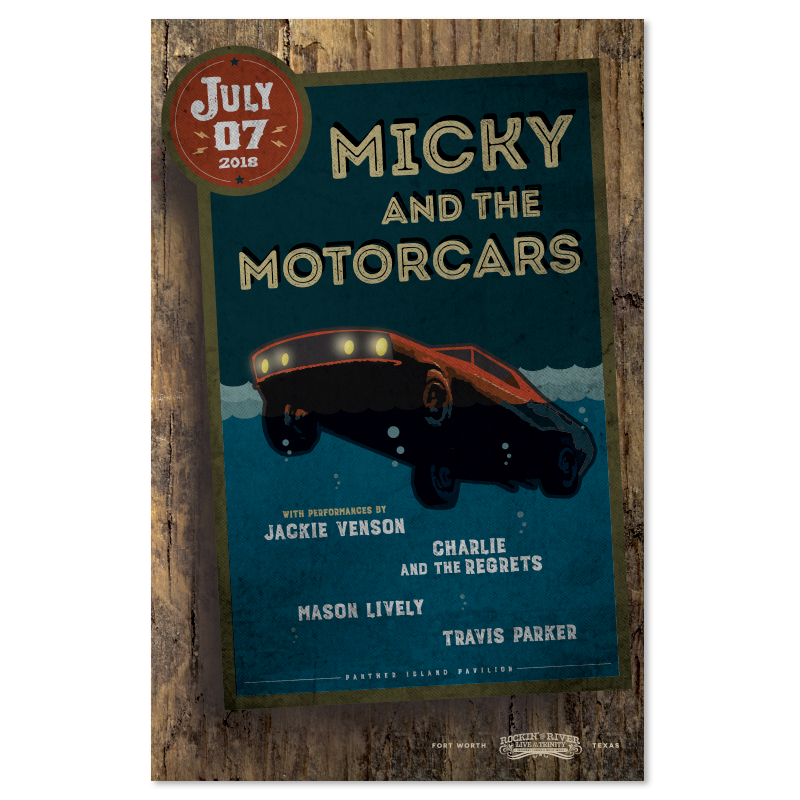Micky and the Motorcars Show Poster