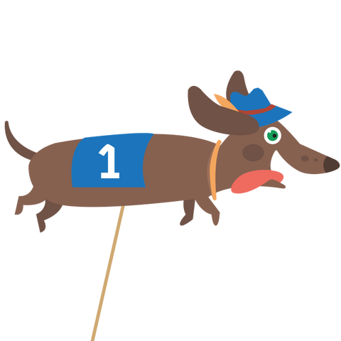Dachshund Races Entry Fee for Magic Smith