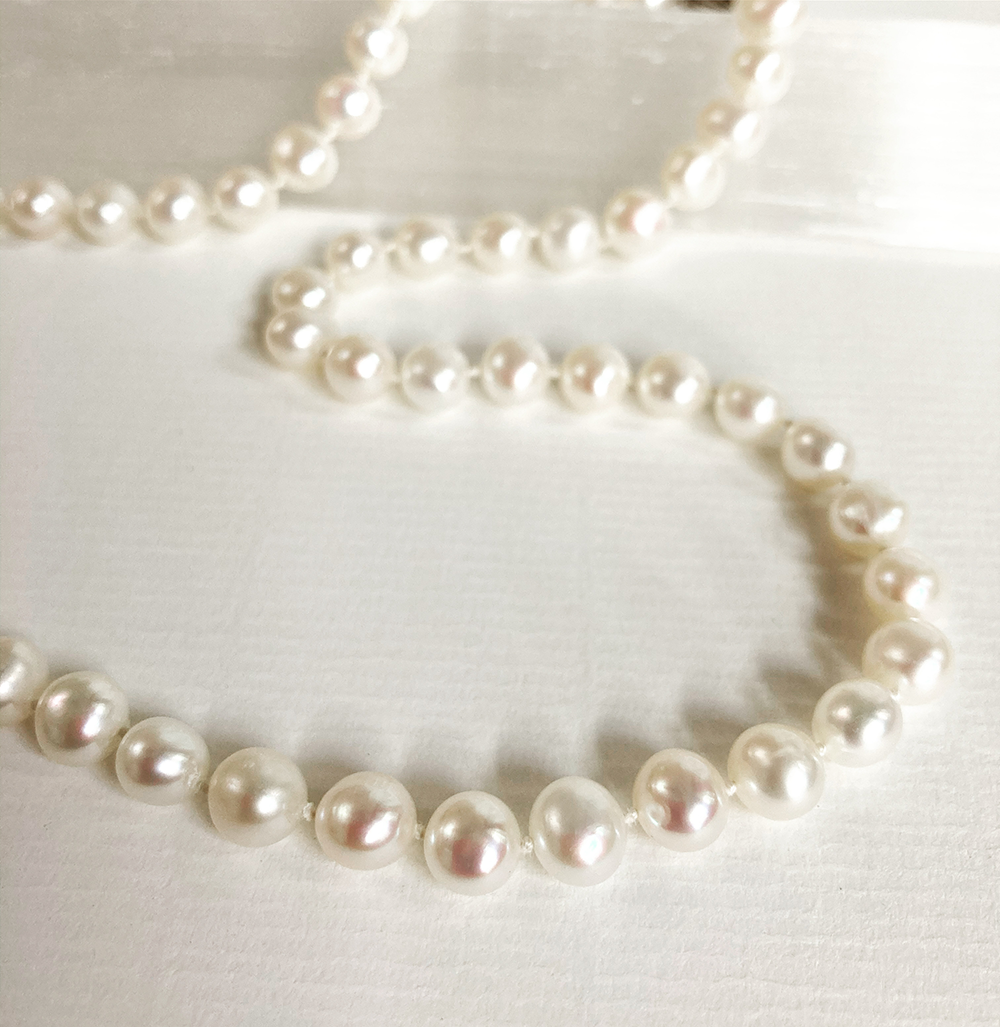 Row of Silk Threaded Pearls