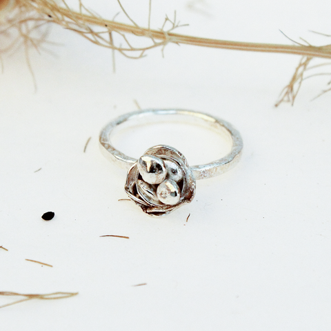Recycled Silver Flower Ring