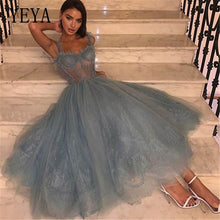 Load image into Gallery viewer, YEYA Summer Sheer Mesh Lace Spaghetti Strap Sexy Loose Maxi Dress Women Sleeveless Hollow Out Stylish Night Party Club Dresses