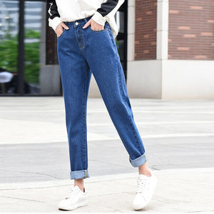 new women 2020 brand fashion jeans black white blue harem pants washed denim pants female loose casual jeans vintage mom jeans