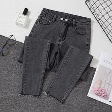 Load image into Gallery viewer, Plus size Jeans Female Denim Pants Black Womens Jeans woman Donna Stretch Bottoms Feminino Skinny Pants For Women Trousers