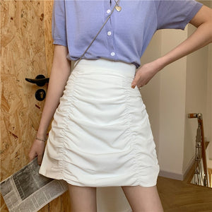 2020 Spring lady Skirt  MINI Draped Bud Skirt AS0027