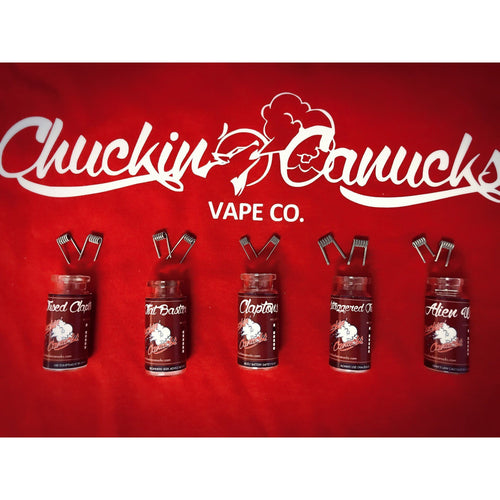Chuckin' Canucks Premade Coils Canadian Eliquid, Ejuice, E Juice, E Liquid, Canadian EJuice, Canadian E-Liquid, Vaping, Vape