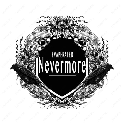 NEVERMORE Sticker Canadian Eliquid, Ejuice, E Juice, E Liquid, Canadian EJuice, Canadian E-Liquid, Vaping, Vape