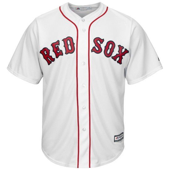 CAMISETA MAJESTIC BOSTON RED SOX - BLANCO / ROJO