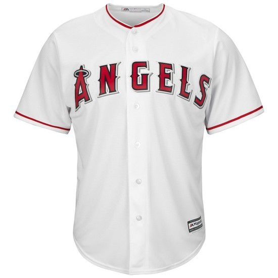 CAMISETA MAJESTIC LOS ANGELES ANGELS - BLANCO / ROJO