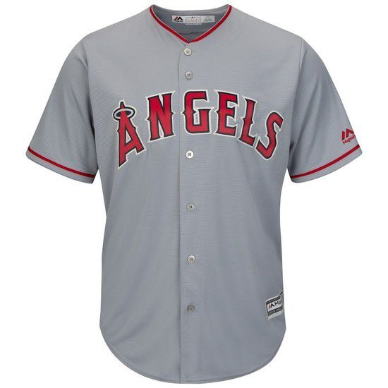 CAMISETA MAJESTIC LOS ANGELES ANGELS - GRIS / ROJO