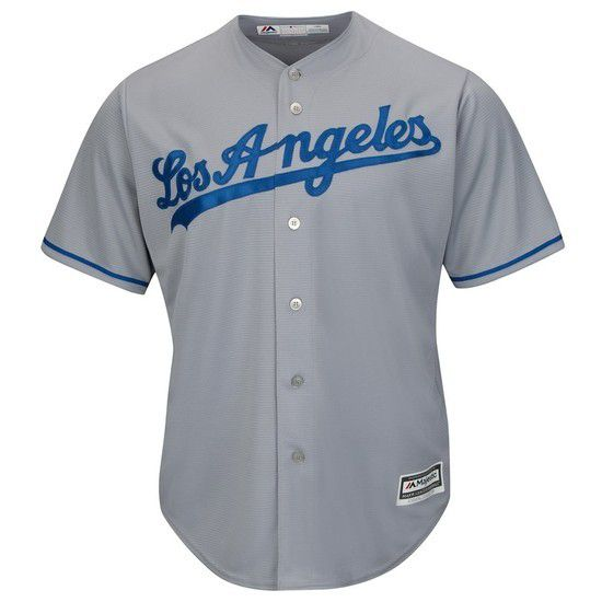 CAMISETA MAJESTIC LOS ANGELES DODGERS - GRIS / AZUL